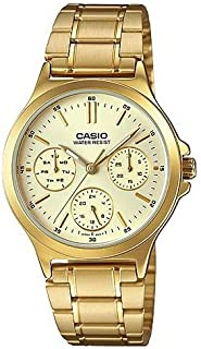 Casio LTP-V300G-9A Women's Standard Gold Tone Stainless Steel Multifunction Gold Dial Watch