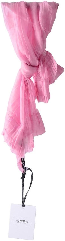 Agnona Pocket Square Women's Pink Plain Cashmere 70 cm x 50 cm