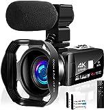 Camcorder Video Camera Ultra HD 4K Camcorder Full HD 48.0 MP WiFi IR