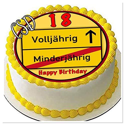 CSD Tortenaufleger 18. Geburtstag M4, Essbares Tortenbild, Zuckerpapier, Fototorte, Geburtstag