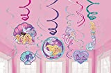 Amscan 672358 Barbie Mermaid Iridescent and Foil Swirl Party Decorations, 12 Ct. 5'
