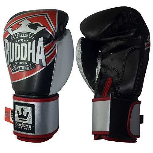 Buddha Sports GGUCOR_14 Handschuhe, Unisex, Erwachsene, Schwarz/Rot, Unzen