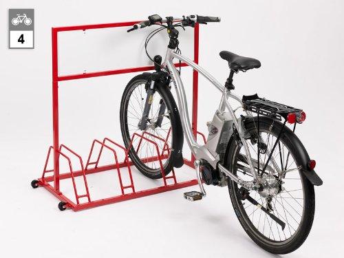 Werbe-Fahrradständer EW 7004 - 4 Einstellplätze
