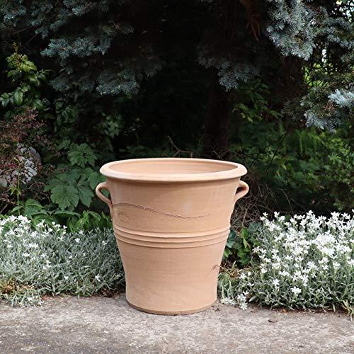 Céramique de Crète | pot / jardinière fait main en terre cuite | 40 cm | Jardinière antigel de Crète Décor de jardin terrasse fleurs, Sorbus