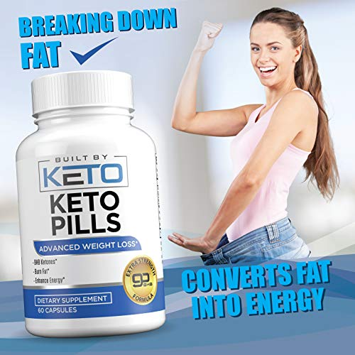Keto Pills - Weight Loss for Women and Men - Ketogenic Diet BHB Salts - Exogenous Ketones Supplement - Burn Fat for Fuel - Xtreme Lean Ketosis Fat Burner for Fast Weightloss - 60 Capsules 6