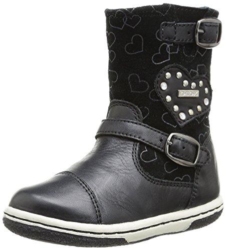Geox B Flick Girl, Boots bébé fille - Noir (Black), 20 EU
