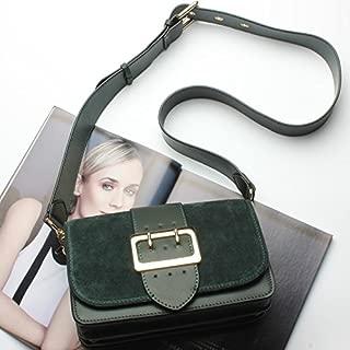 Leather 2018 New Women's Shoulder Wallet Leather Handbag Fashion Casual Shoulder Diagonal Wallet Leather Ladies Wallet Waterproof (Color : Blue, Size : M)