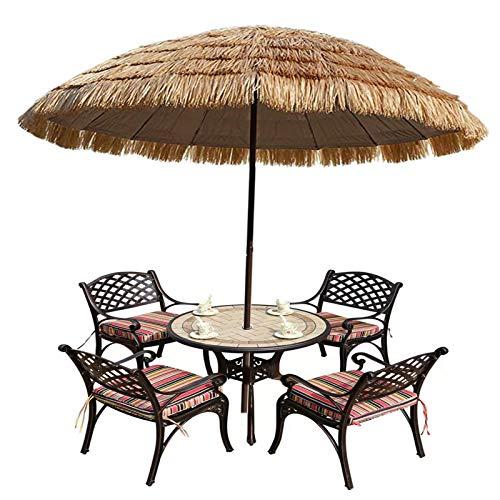 XINGG Sombrilla De Jardín De Patio De Playa De Hawaii, Sombrilla De Paja Tiki De Patio De Paja, Sombrilla De Mercado con Protección UV Ventilada, para Piscina Bistro Jardín