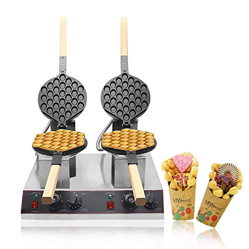 BAOSHISHAN Eggettes Maker Bubble Waffle Maker Waffle Iron Egg Waffle Maker Double Commerical Non-Stick Electric CE…