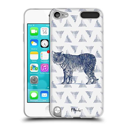 Head Case Designs Offizielle Paul Brent Tiger Schlamm Tuecher Tiere Soft Gel Handyhülle Hülle Huelle kompatibel mit Apple iPod Touch 5G 5th Gen