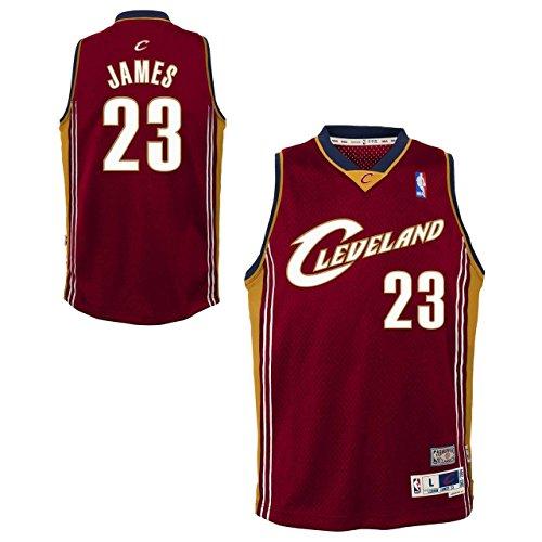 Genuine Stuff Cleveland Cavaliers Youth Lebron James NBA Soul Swingman Jersey - Maroon #23, Youth X-Large