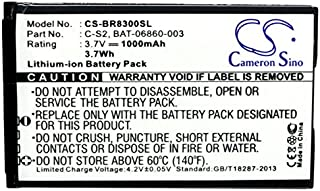 Cameron Sino 1000mAh / 3.7Wh Li-ion High-Capacity Replacement Batteries for Blackberry Curve 8300, Curve 8310 , fits Blackberry BAT-06860-003, C-S2