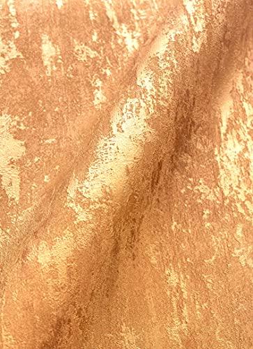 NEWROOM Tapete Gold Vliestapete Glänzend - Metallic Glamour Gelbgold Beton Putz Industrial Modern Betonoptik Putzoptik Uni inkl. Tapezier-Ratgeber