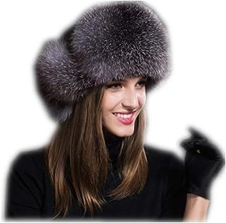 94b6a15a9d7 MH Bailment Womens Winter Hat Genuine Fox Fur Russian Hats Lei Feng hat