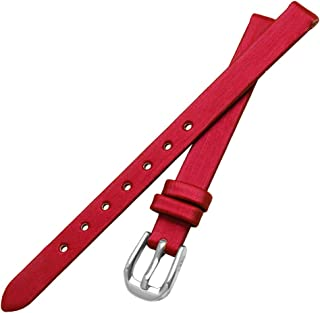 Leather Watch Band Full Grain Genuine Leather Thin Replacement Watch Strap With Stainless Steel Buckle