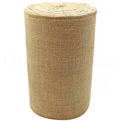 CleverDelights 12' Natural Burlap - Industrial Grade - 50 Yard Roll - Tight-Weave Jute Burlap Fabric