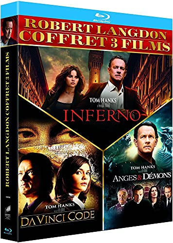 Robert Langdon Trilogie 3 Films [Blu-Ray] [Blu-ray + Copie digitale]