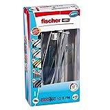Fischer - Tacos DuoTec 12 con Tornillos, Tacos para Instalar radiadores, Tacos para Instalar lamparas, Caja de 10 Unidades.