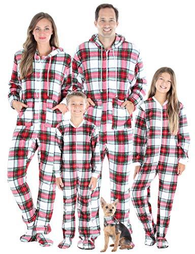 SleepytimePJs Matching Family Christmas Pajama Sets, Green Plaid,...