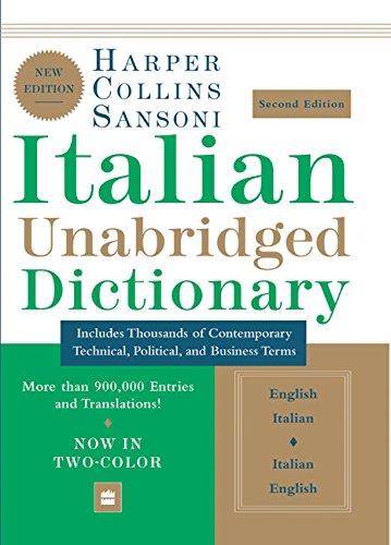 Download HarperCollins Sansoni Italian Unabridged Dictionary, Second Edition 0060817747