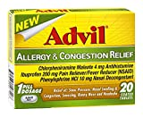 Advil Allergy & Congestion Relief Tablets 20 Tablets (Pack of 3)