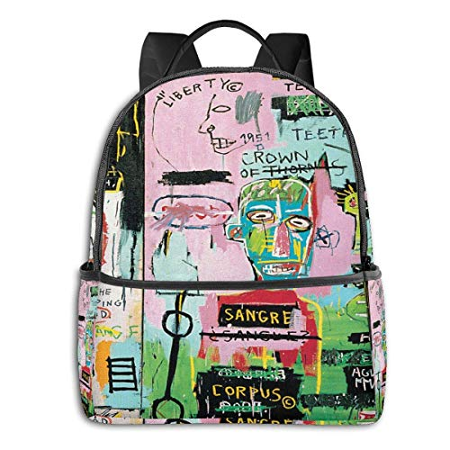 IUJL Jean Michel Basquiat Backpack Laptop Backpack Men and Women School Backpack Business Travel Waterproof Bag 15 Inch Backpack
