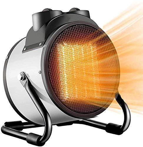 QIULAO Calefacción auxiliar, calentador de patio eléctrica 3000W cerámica PTC calentador de ventilador, 2 ajustes de calor con termostato ajustable y Protección del sobrecalentamiento, calentadores de