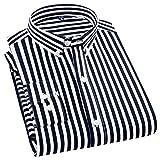 HDDFG Hombres Primavera Otoño Camisa estampada Casual Antiarrugas Cómodas camisas delgadas de manga larga (Color : C, Size : M code)