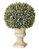 Regency International Potted Flocked Artificial Sage Ball in Urn 15'