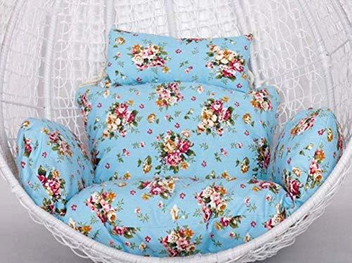 ZHCHL Coussin de chaise suspendu pour balançoire, coussin de siège hamac, coussin de dossier de chaise en coton épais, grand coussin de chaise à suspendre, tissu de polyester, H