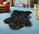 Deluxe Faux Bear Rug for Nursery【 Extra Large 6ft x 3ft 】. Faux Fur Bear Skin Rug for Kids Extra Hairy. Comfy Bear Skin Area Rug, Bedroom or Livingroom. Faux Black Bear Rug for Nursery Boy