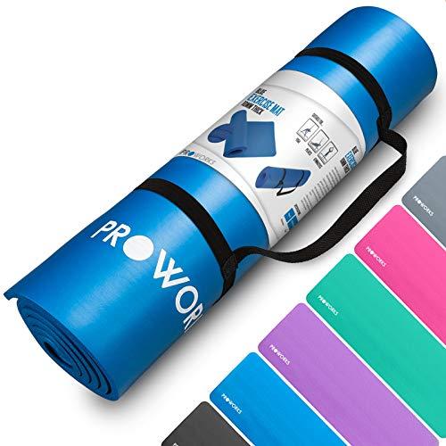 Proworks Premium, Yogamatte für Fitness, Pilates & Gymnastik mit Tragegurt
