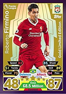MATCH ATTAX 17/18 ROBERTO FIRMINO GOLD LIMITED EDITION CARD LE3G - LIVERPOOL 2017/18