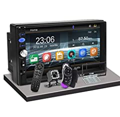 【Universal Double Din Car Stereo】Size:7(L)*3.94(H)*2.6(W)IN, The new design 7 Inch touch screen car stereo with TFT LCD resolution: 1024 x 600,multi OS languages such as English, Spanish,German,French ,Russian, Italian etc 【FM】Bluetooth car stereo Su...