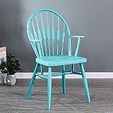 HOMRanger Sillas Windsor, Sillón Silla de Comedor de plástico Diseño Moderno Hogar, Comedor, Cocina, Dormitorio, sillones Laterales Taburetes (Color: Azul)