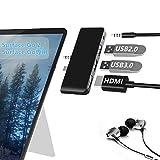 Microsoft Surface Go / Surface Go 2 専用 USBハブ Rytaki 4K@30Hz HDMIポート+USB 3.0ポート+3.5mmヘッドフォンジャック+USB2.0ポート 高速データ転送 Windows 10 サーフェス ゴー専門の4-in-2 USB 3.0変換アダプター