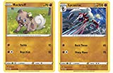 Pokemon Evolution Set - Midnight Lycanroc 95/185 & Rockruff - Vivid Voltage - Rare Card Lot