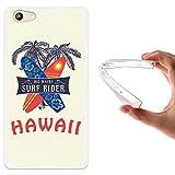 WoowCase Doogee Y300 Hülle, Handyhülle Silikon für [ Doogee Y300 ] Hawaii Big Waves Surf Rider Handytasche Handy Cover Case Schutzhülle Flexible TPU - Transparent