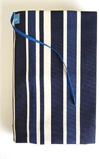 Beahouse フリーサイズブックカバー:ストライプ ほぼ全サイズ対応 (文庫、B6、四六、新書、A5、マンガ、ノート) (ブルー)