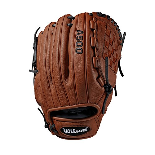 Wilson Youth A500 unisex handschoenen voor baseball, COPPER/BLACK, 12 inch