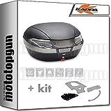 kappa maleta k56nt 56 lt + portaequipaje monokey compatible con benelli trk 502 x 2020 20