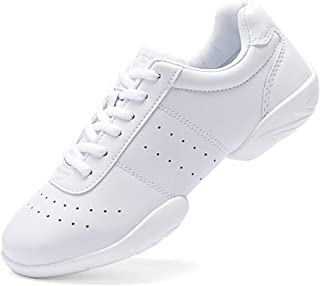 Smapavic Cheer Shoes Women Cheerleading Dance Shoes Fashion Sneakers Athletic Sport Training Lace Up Shoes for Gilrs
