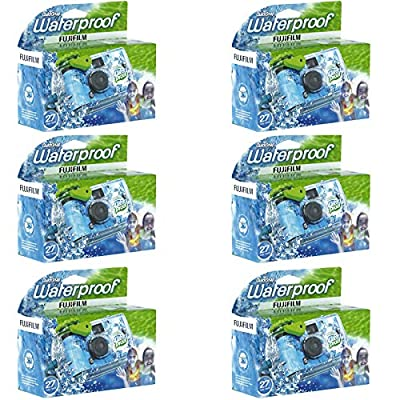 6 Pack - Fuji QuickSnap Waterproof Underwater One Time Use Disposable Cameras by Continental Supply