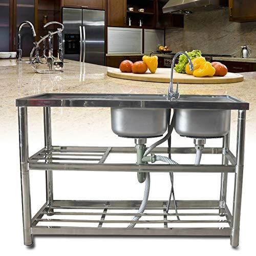 Commercial Restaurant Sink - Stainless Steel...