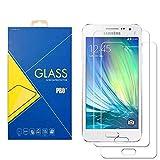 [2 Pack] Protector Cristal Vidrio Templado Samsung Galaxy A3 (2015) SM-A300 / A300F / A300H / A300G/ A300FU / A300FD / A300HD – Pantalla Antigolpes y Resistente al Rayado