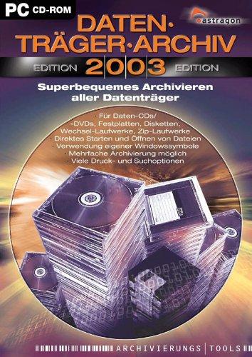 Datenträger-Archiv, 2003, 1 CD-ROM Superbequemes Archivieren aller Datenträger. Für Windows 98 SE/Me/2000/XP. Für Daten-CDs/-DVDs, Festplatten, Disketten, Wechsel-Laufwerke, Zip-Laufwerke. Direktes Starten und Öffnen von Dateien. Verwendu