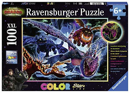 Ravensburger Kinderpuzzle 13710 - Leuchtende Dragons - 100 Teile