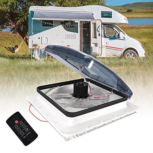 TTLIFE Ventilador Ventilación Autocaravana, Ventilador Techo Caravana Con Control Remoto y Sensor Lluvia Inteligente 12 v Ventilador Ventilación Techo Rv Para Autocaravana, Para Autocaravana