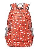 Sweetheart School Bags for Girls Bookbags Children Kids Primary School Backpacks (Orange)
