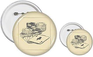 Kit de création de jetons de poker noirs avec épingles, badges, boutons